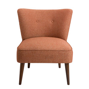 Nicollet Walnut Armless Accent Chair