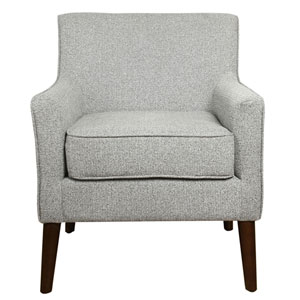 Nicollet Grey and Walnut Accent Chair