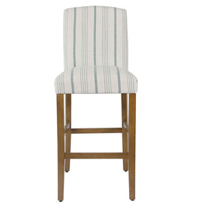 Grace Blue and Honey Oak Parsons Chair