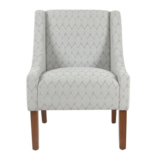 Loring Grey and Honey Oak Accent Chair