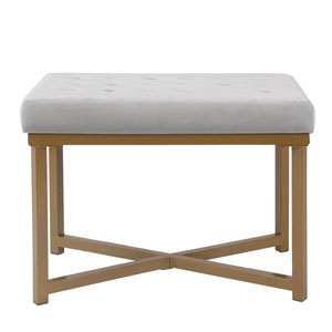 Cooper Silver and Gold Ottoman