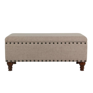 Selby Tan Large Storage Bench
