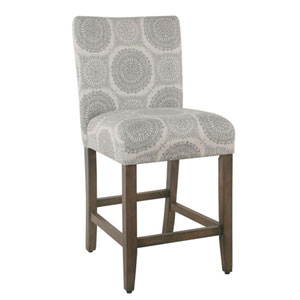 Quinn Grey Medallion Counter Stool