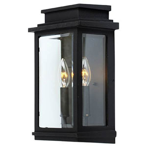 Kenwood Black Two-Light 13-Inch High Outdoor Wall Sconce