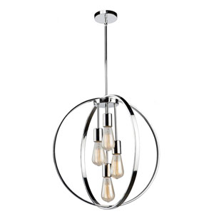 Nicollet Chrome Four-Light Chandelier