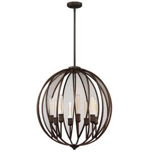 Nicollet Bronze Eight-Light Chandelier