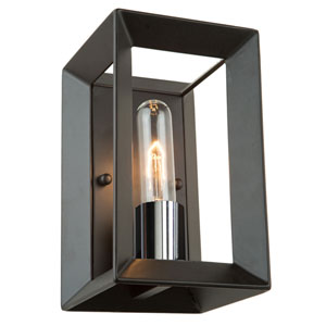 Uptown Black and Chrome One-Light Wall Sconce