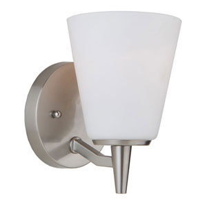 Nicollet Brushed Nickel One-Light Wall Sconce
