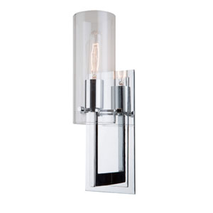 Uptown Chrome One-Light Wall Sconce