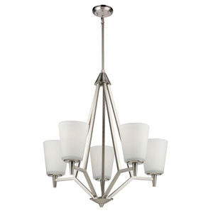 Nicollet Brushed Nickel Five-Light Chandelier