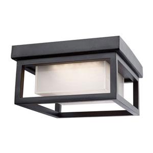 Kenwood Black One-Light LED Outdoor Flush Mount