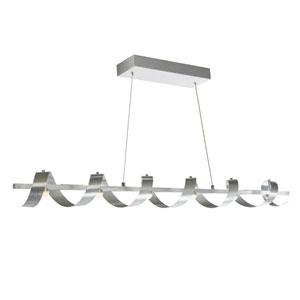 Nicollet Brushed Aluminum Six-Light LED Linear Pendant