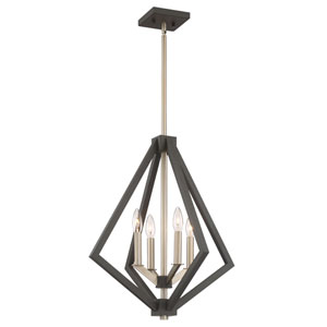 Uptown Point Bronze Four-Light Pendant
