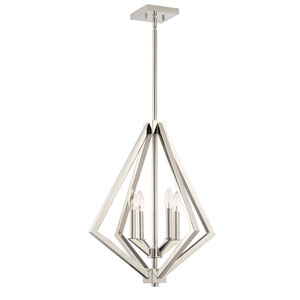 Uptown Point Polished Nickel Four-Light Pendant