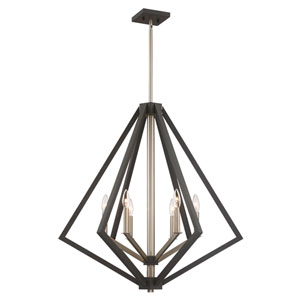 Uptown Point Bronze Six-Light Pendant