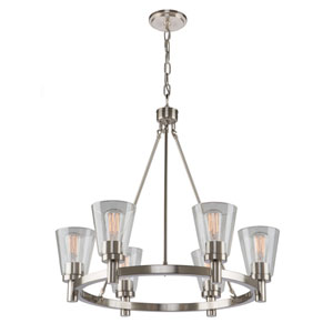 Nicollet Brushed Nickel 34-Inch Six-Light Chandelier