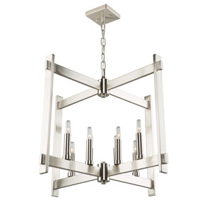 Uptown Polished Nickel Eight-Light Pendant