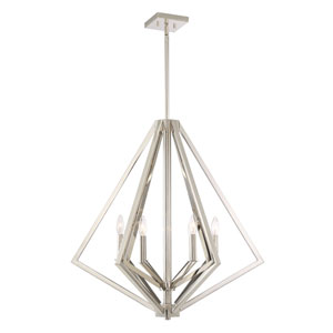 Uptown Point Polished Nickel Six-Light Pendant