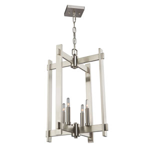 Uptown Polished Nickel Four-Light Pendant