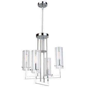 Uptown Chrome Four-Light Chandelier