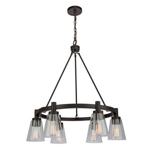 Nicollet Oil Rubbed Bronze 29-Inch Six-Light Chandelier