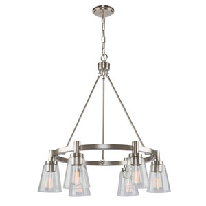 Nicollet Brushed Nickel 29-Inch Six-Light Chandelier