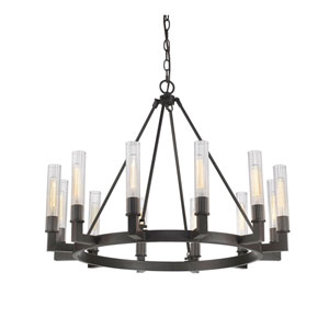 Nicollet Bronze 12-Light Chandelier