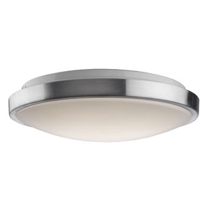 Nicollet Brushed Nickel 14-Inch One-Light LED Flush Mount