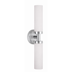 Essex Chrome Five-Inch Two-Light ADA Bath Fixture with Bar Connector