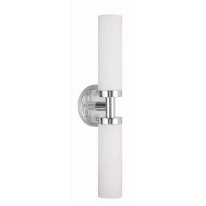 Essex Brushed Nickel Five-Inch Two-Light ADA Bath Fixture with Bar Connector