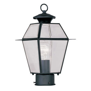 Lyndale Black One-Light Outdoor Post Mount