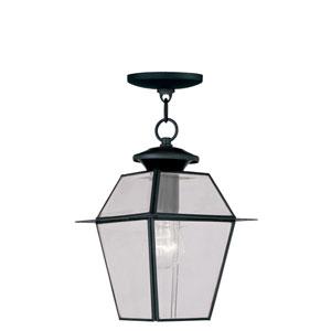 Lyndale Black One-Light Outdoor Pendant