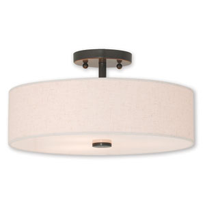 Kate Bronze Three-Light 15-Inch Ceiling Mount
