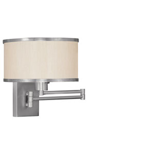 Elle Brushed Nickel One-Light Swing Arm Wall Lamp
