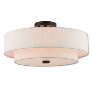 Kate Bronze 18-Inch Four-Light Ceiling Mount