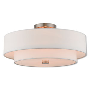Kate Brushed Nickel 18-Inch Four-Light Ceiling Mount