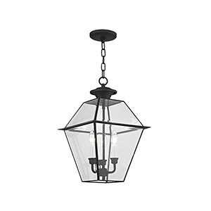 Lyndale Black Three-Light Outdoor Chain Hung Pendant