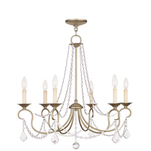 Diana Antique Silver Six-Light Chandelier