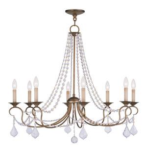 Diana Antique Gold Eight-Light Chandelier
