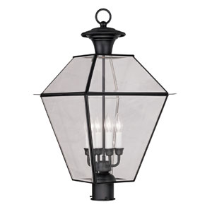 Lyndale Black Four-Light Outdoor Post Head
