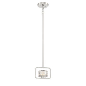 Camila Brushed Nickel Seven-Inch One-Light Mini Pendant