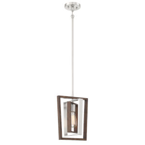 York Brushed Nickel Corona Bronze 10-Inch One-Light Mini Pendant