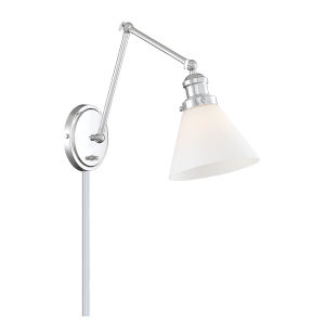 Elle Chrome One-Light Wall Sconce