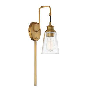 Anna Natural Brass One-Light Wall Sconce