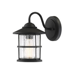 Lex Matte Black One-Light Outdoor Wall Sconce