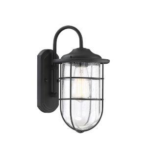 Finn Matte Black Seven-Inch One-Light Outdoor Wall Sconce