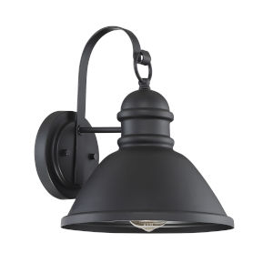 Ash Matte Black One-Light Outdoor Wall Sconce