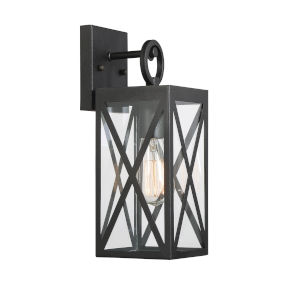 Knox Black One-Light Outdoor Wall Sconce