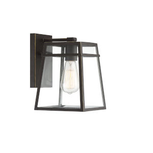 Madison Oil Rubbed Bronze with Gold Highlights One-Light Outdoor Wall Sconce