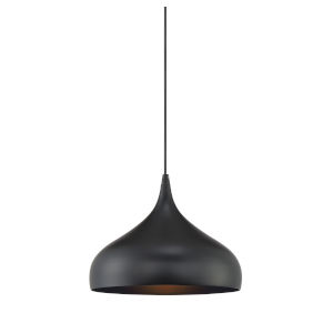 Fredrick Matte Black One-Light Pendant